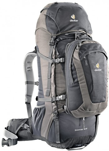 Image Of A Black And Grey Deuter Backpack
