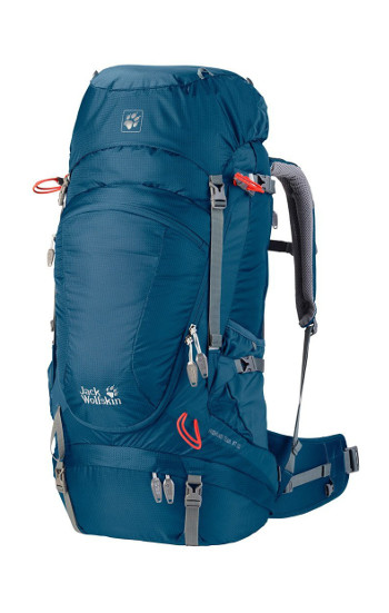 Image Of A Blue Jack Wolfskin Backpack