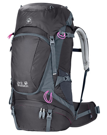 Image Of A Dark Grey Jack Wolfskin Backpack