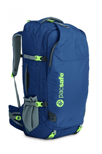 Image Of A Blue Pacsafe Backpack
