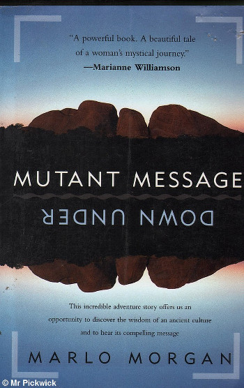 Image Of Book Cover Mutant Message From Autor Marlo Morgan Category Travel
